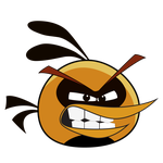 Angry Bird - Angry Orange Bird by life-as-a-coder