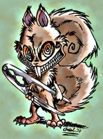 Psycho Squirrel Colored by TickleMeHoHo