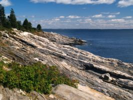 Pemaquid Seascape by davincipoppalag