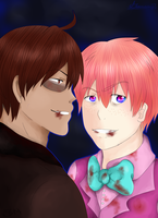 2P America and England {SpeedPaint} by Scythe--Meister