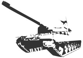 Tank stencil by mortifi