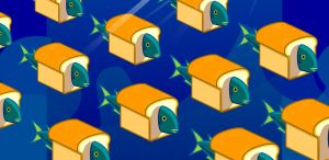 Breadfish Background by GrinLoss