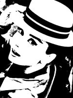 Audrey in Hat- Ink Print by GlassWorks
