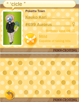 PKMN Crossing App - Kauko by ScalpelUser