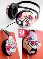 Panda and unicorn Headphones by Bobsmade