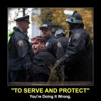 Serve and Protect Meme by gonzoville
