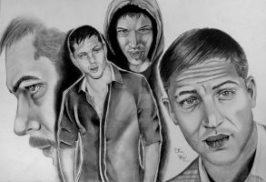 Tom Hardy by Thessa-drawings