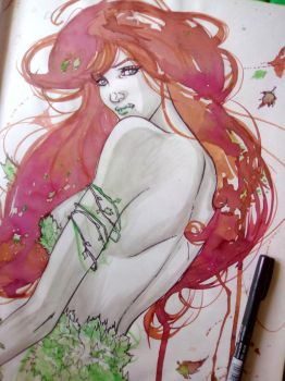 poison ivy watercolor by crunchbacardi