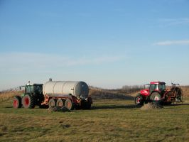 Two Tractors 2 by photohouse
