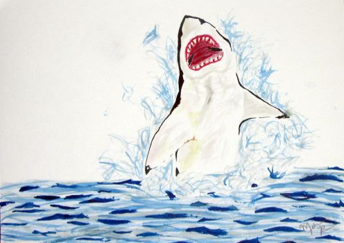 Max the Whining Shark by Melindotty
