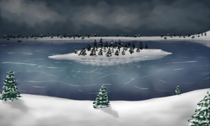 Snowy/frozen lake for ToD by kristhasirah