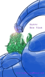 New Years with some SizemoLotus by SpottedAlienMonster