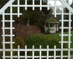 Gazeebo -view through hole by JensStockCollection