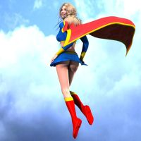 Supergirl's back by poopopopero