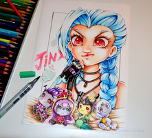 Jinx and the Struggle to find her Support by Lighane