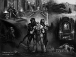 My Skyrim by IcedWingsArt