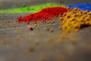 The pigments by samkitsch