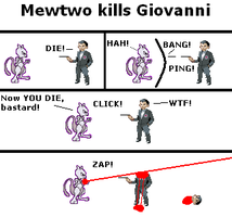 Mewtwo kills Giovanni by Mewtwolover