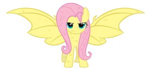 Fluttershy-front-view As A Bat by FLUTTERSPARKLEDO