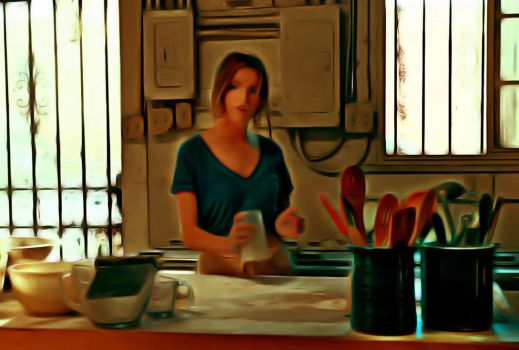 Anna Kendrick in the kitchen by n0ave