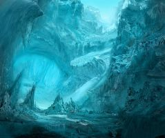 Ice Cavern by GeorgeLovesyArt