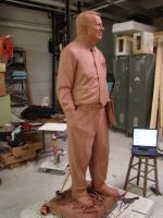 life-size statue in progress by folkeby