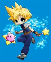Cloud n Kirby YamPuff Colour by zarkia