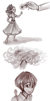 Arrietty Sketches by sharkie19