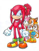 Knuckles' new due by KACItheCAT