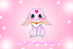 Goddessmon as a bunny by HeroHeart001