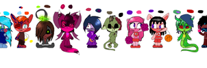 Creepy and cute sonic adopts by MoBAdopts