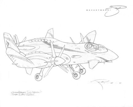 T-6 Arrow Turbo Prop fighter by mavartworx