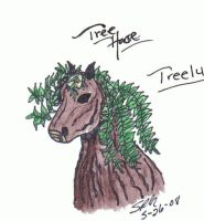 Treelu-The Willow Tree Horse by faery-dustgirl