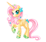 Alicorn Fluttershy w/o background by bapity88