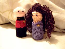 Picard and Troi by knerdy-knits