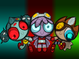 The Powerpuff Nauts by danceswithzerg
