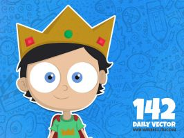 Daily Vector - 142 (Little King) by KellerAC