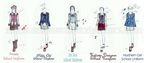 School Uniform Designs -Female by Zodaszen