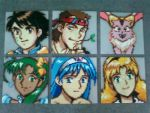 Lunar Eternal Blue - Bead Art Set by GuardianRandyLimoges