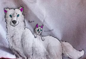 Katie and Snowpelt by TheDragonInTheCenter