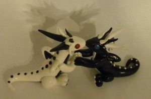 Ying and yang love dragons made to order by LegendsAndMyths