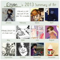 2013 Summary of art by Elyan-Dreams