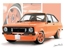 1975 Ford Escort MKII Mexico by CRWPitman