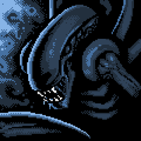 Alien Pixel Art by foxinsoxx