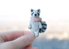 Tiny raccoon by freedragonfly