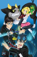 Ao No Exorcist - Blue Exorcist 001 by phoenixcrash