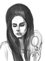 Lana Del Rey sketch by pandatails