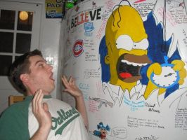 Homer Simpson - Here's Johnny! by MWood919
