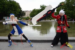 Noel Vermillion and Ragna the Bloodedge by endless--rain