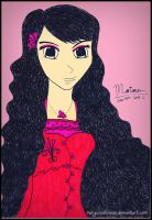 ~ long black hair girl ~ by MaryCreationss